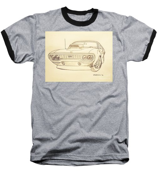 Plymouth Gtx American Muscle Car - Antique  Baseball T-Shirt