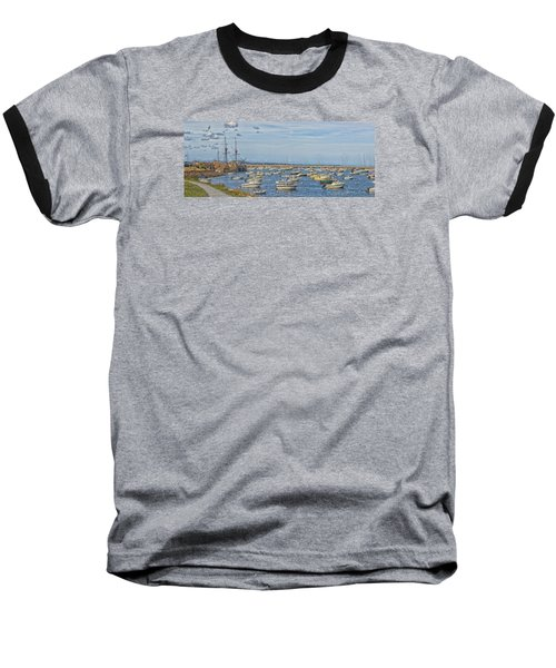 Baseball T-Shirt featuring the photograph Plymouth Harbor In September by Constantine Gregory