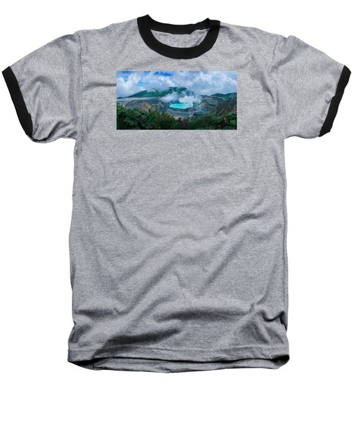Baseball T-Shirt featuring the photograph Poas Volcano, Costa Rica by RC Pics