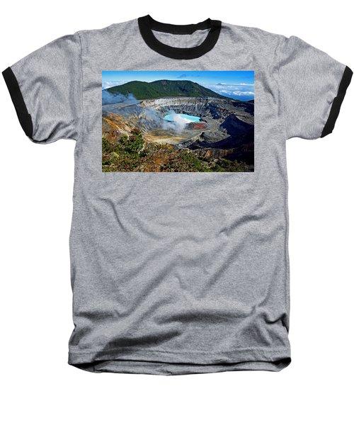 Poas Volcano Baseball T-Shirt