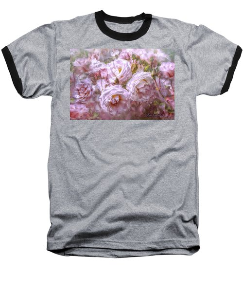 Baseball T-Shirt featuring the digital art Pocket Full Of Roses by Kari Nanstad
