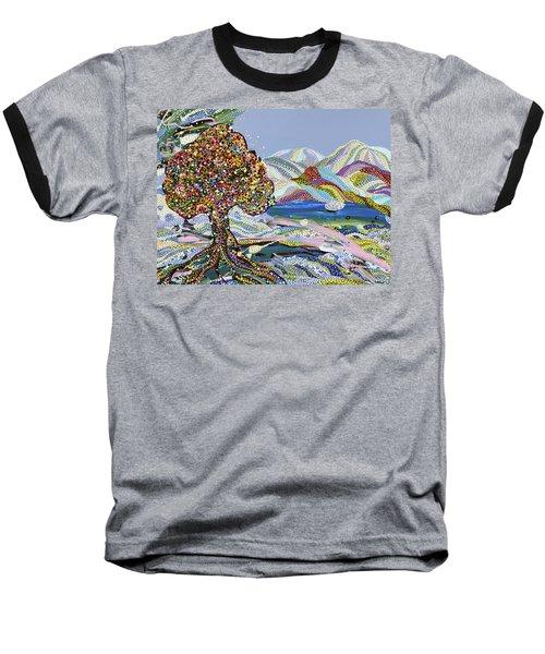 Poet's Lake Baseball T-Shirt by Erika Pochybova
