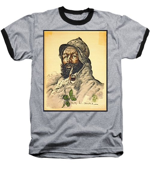 Poilu 1916 Baseball T-Shirt by Padre Art