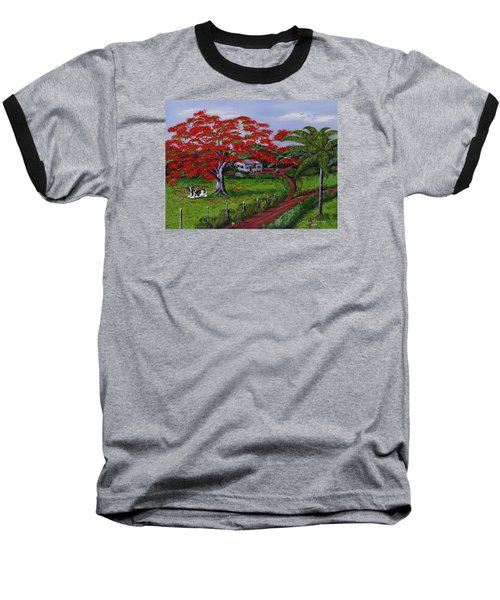 Poinciana Blvd Baseball T-Shirt by Luis F Rodriguez