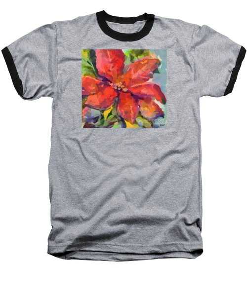 Poinsettia Baseball T-Shirt by Dragica Micki Fortuna
