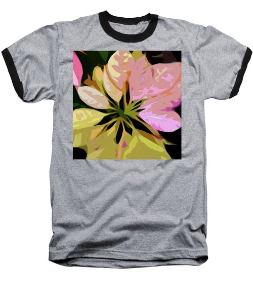 Poinsettia Tile Baseball T-Shirt
