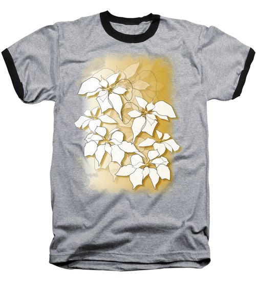 Poinsettias Baseball T-Shirt