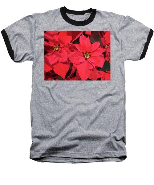 Poinsettias Baseball T-Shirt