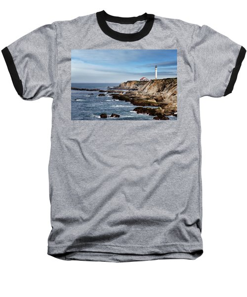Point Arena Light Baseball T-Shirt by Lana Trussell