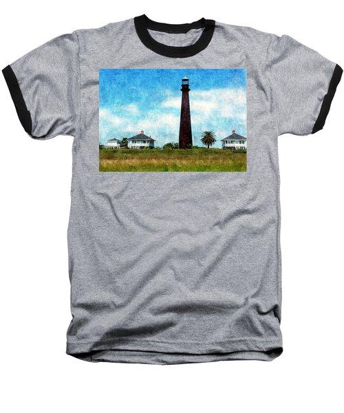 Point Bolivar Lighthouse 1872 Baseball T-Shirt by Karl Reid
