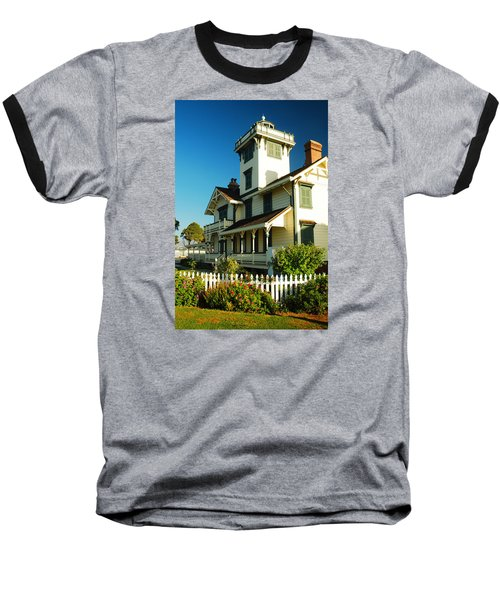 Baseball T-Shirt featuring the photograph Point Fermin Lighthouse by James Kirkikis