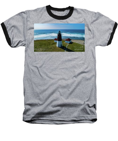 Point Judith Lighthouse Baseball T-Shirt