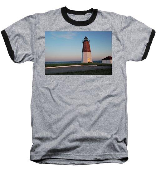 Point Judith Lighthouse Rhode Island Baseball T-Shirt