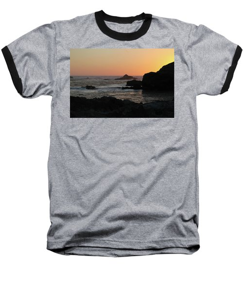 Point Lobos Sunset Baseball T-Shirt