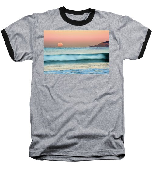 Point Loma Moonset Baseball T-Shirt