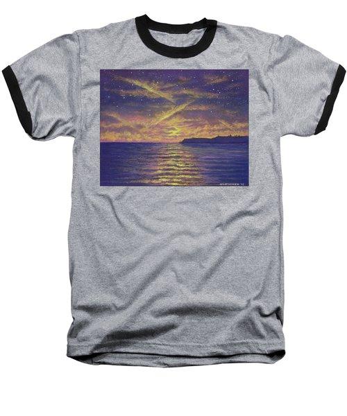 Point Loma Sunset 01 Baseball T-Shirt
