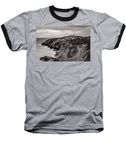 Point Lynas Lighthouse In Llaneilian On Anglesey Baseball T-Shirt