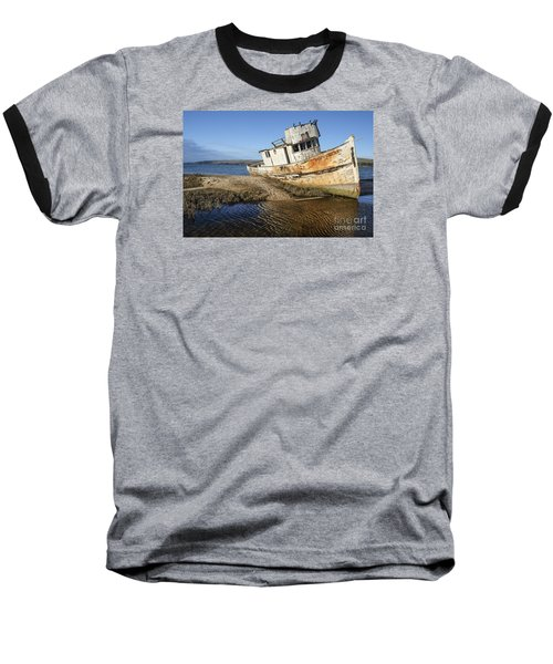 Point Reyes Shipwreck Baseball T-Shirt by Amy Fearn