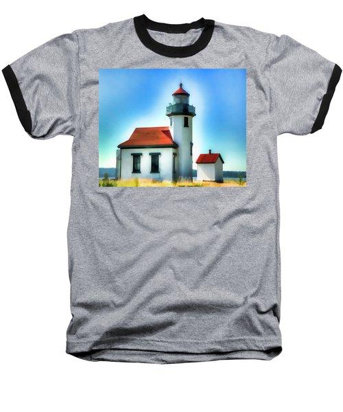 Point Robinson Lighthouse Baseball T-Shirt