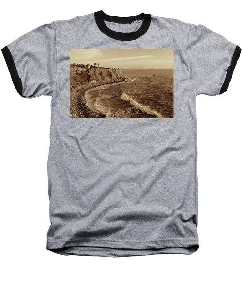 Point Vicente Lighthouse Palos Verdes California - Sepia Rendition Baseball T-Shirt