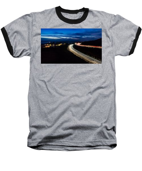 Point Vincente Light Trails Baseball T-Shirt