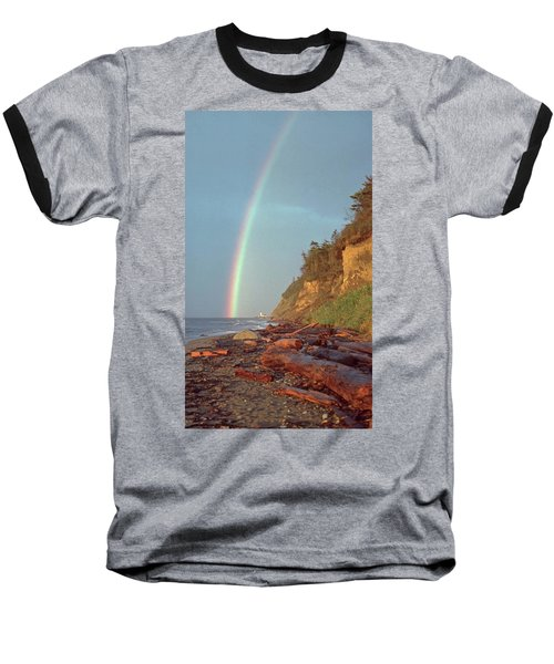 Baseball T-Shirt featuring the photograph Point Wilson by Laurie Stewart