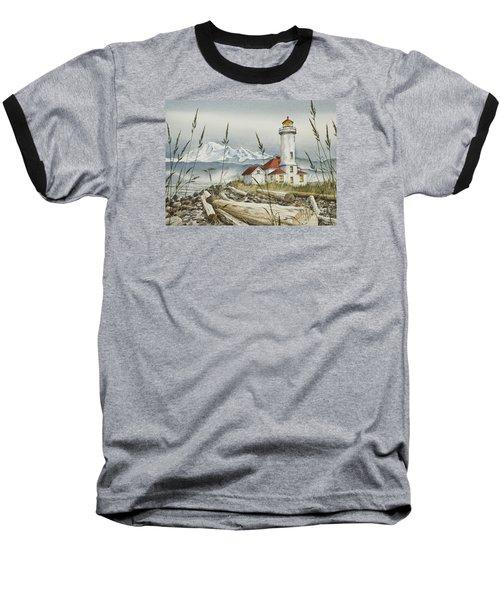 Point Wilson Lighthouse Baseball T-Shirt by James Williamson