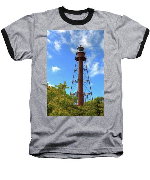 Baseball T-Shirt featuring the digital art Point Ybel Lighthouse by Sharon Batdorf