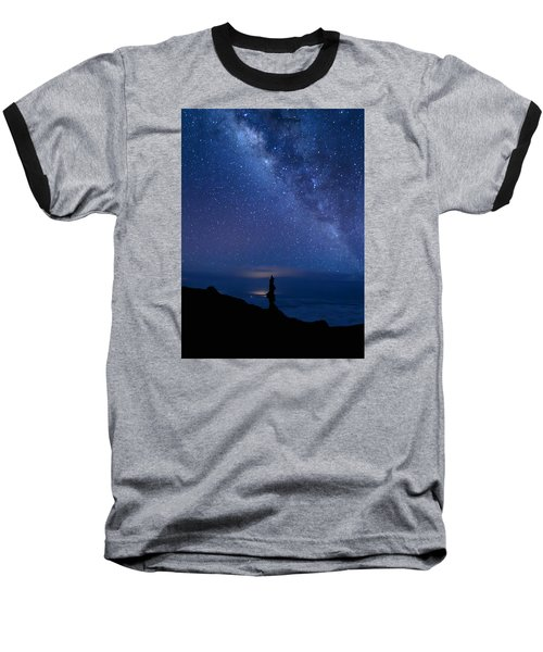 Pointing To The Heavens Baseball T-Shirt