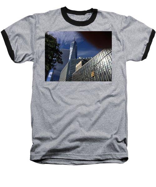 Pointing Towards The Sky Baseball T-Shirt