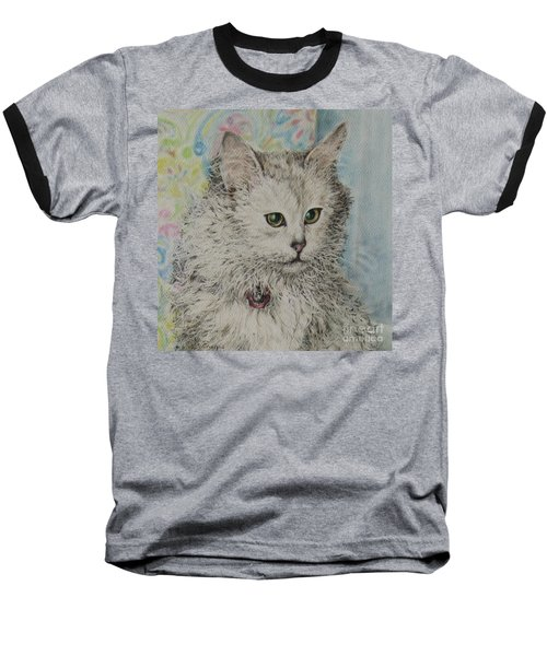 Poised Cat Baseball T-Shirt