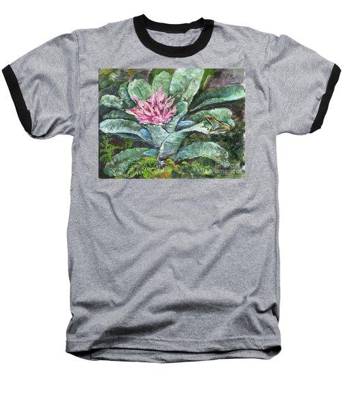 Poison Dart Frog On Bromeliad Baseball T-Shirt