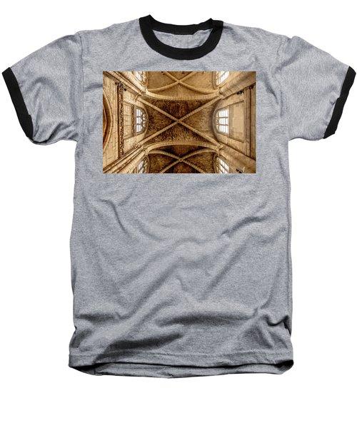 Poissy, France - Ceiling, Notre-dame De Poissy Baseball T-Shirt