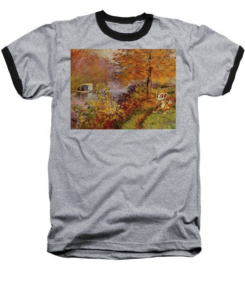 Baseball T-Shirt featuring the digital art Pokemonet by Greg Sharpe