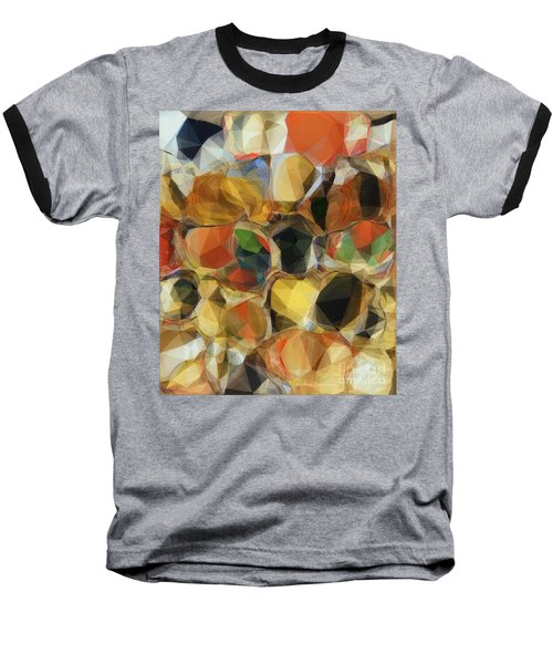 Crazy Quilt Baseball T-Shirt by Kathie Chicoine