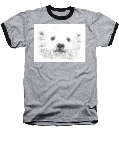 Polar Bear Cub Baseball T-Shirt