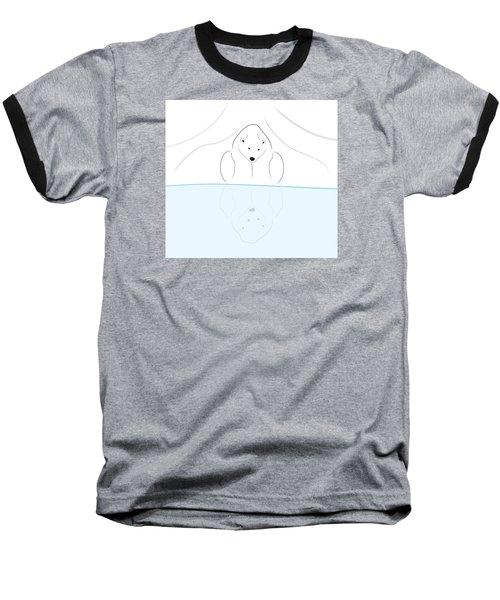 Polar Bear Reflection Baseball T-Shirt