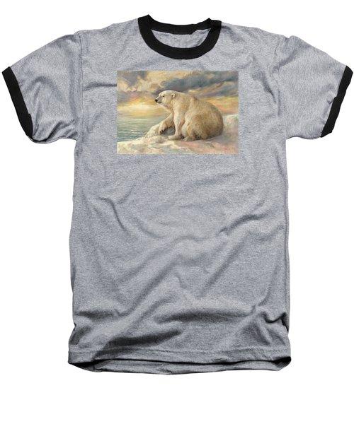 Polar Bear Rests On The Ice - Arctic Alaska Baseball T-Shirt