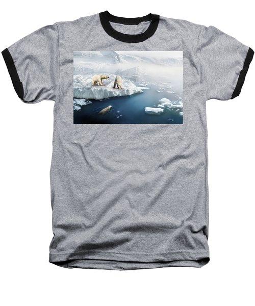 Baseball T-Shirt featuring the digital art Polar Bears by Thanh Thuy Nguyen
