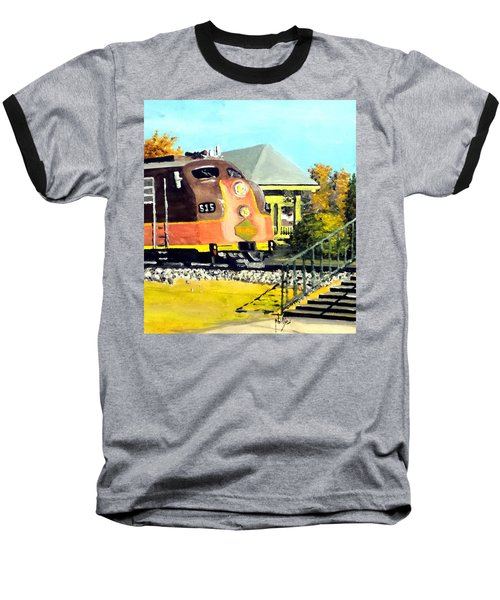Baseball T-Shirt featuring the painting Polar Express by Jim Phillips
