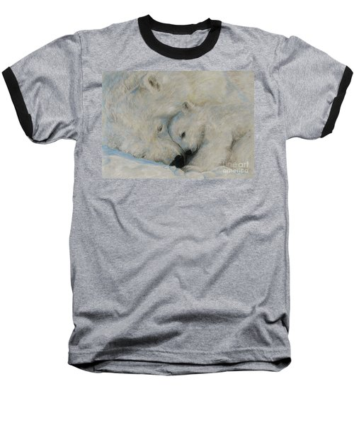 Baseball T-Shirt featuring the drawing Polar Snuggle by Meagan  Visser