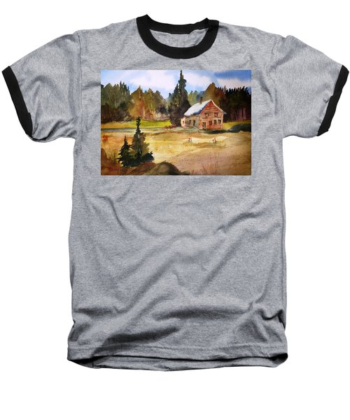 Polebridge Mt Cabin Baseball T-Shirt