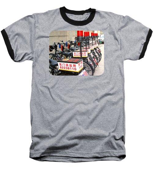 Police Bicycles Baseball T-Shirt