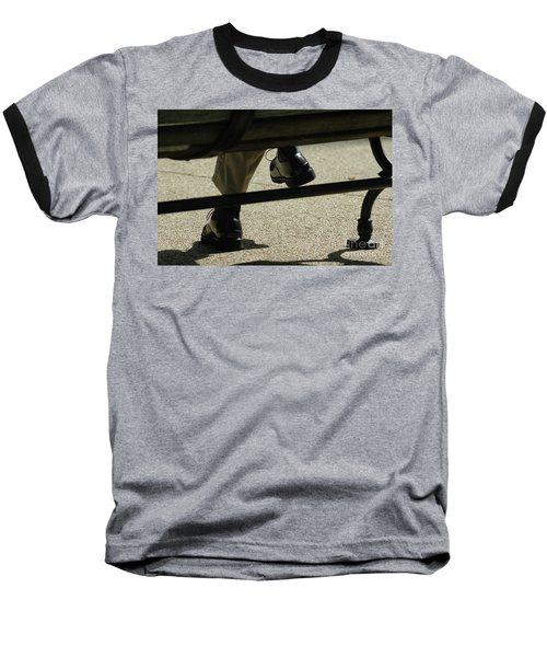 Polished Shoes On Bench Baseball T-Shirt