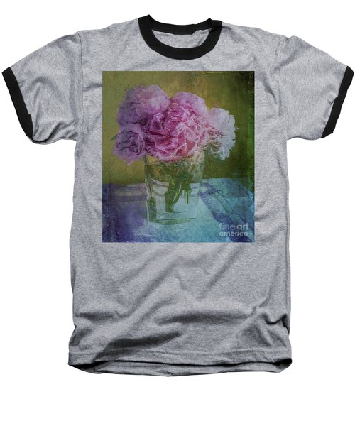 Polite Peonies Baseball T-Shirt by Alexis Rotella