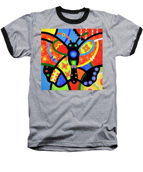 Kaleidoscope Butterfly Baseball T-Shirt