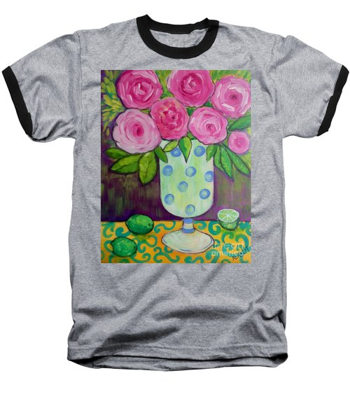 Polka-dot Vase Baseball T-Shirt