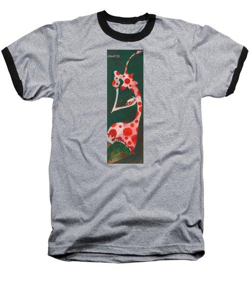 Baseball T-Shirt featuring the painting Polka Dots by Maya Manolova