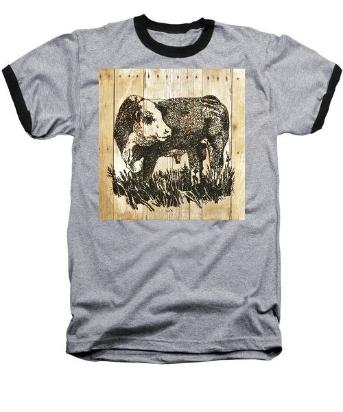 Polled Hereford Bull 11 Baseball T-Shirt