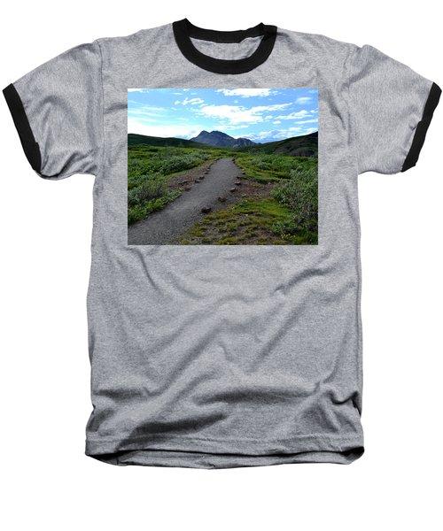 Polychrome Pass Trail, Denali Baseball T-Shirt